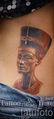 фото классной готовой тату Нефертити для статьи про значение 47