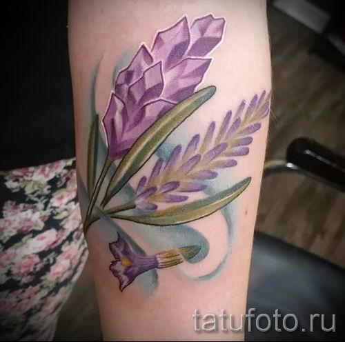 фото пример тату лаванда для статьи про значение этой татуировки 4