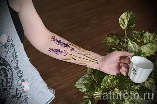 фото пример тату лаванда для статьи про значение этой татуировки 30