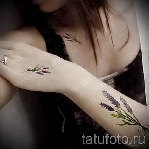 фото пример тату лаванда для статьи про значение этой татуировки 37