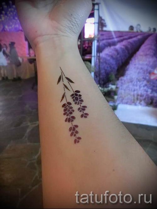 фото пример тату лаванда для статьи про значение этой татуировки 38