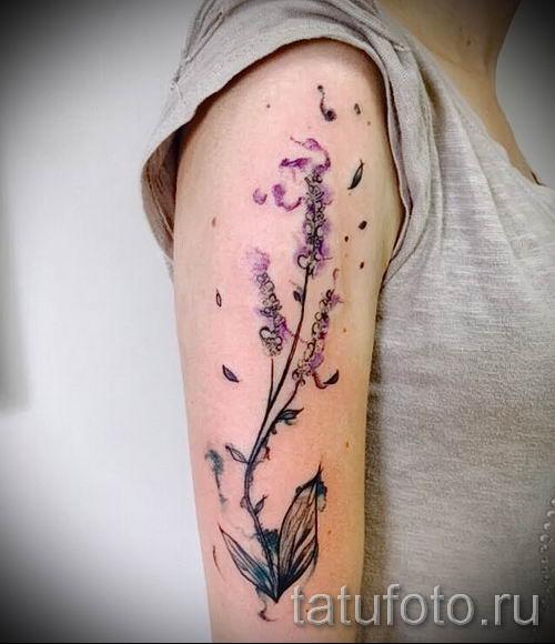 фото пример тату лаванда для статьи про значение этой татуировки 39