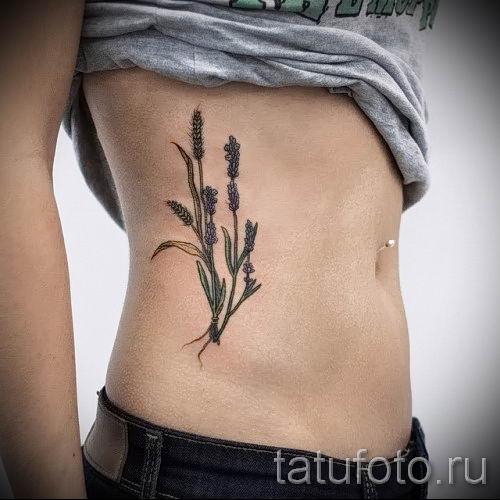 фото пример тату лаванда для статьи про значение этой татуировки 51