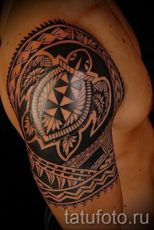 фото пример тату маори - для статьи про значение рисунков 13