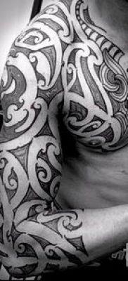 фото пример тату маори – для статьи про значение рисунков 120