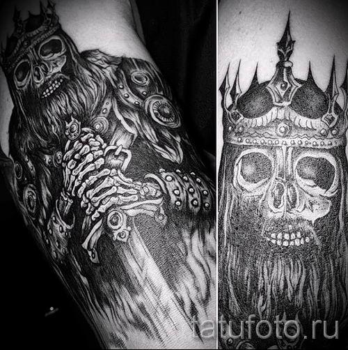 фото пример тату меч - картинка для статьи про значение татуировки 25