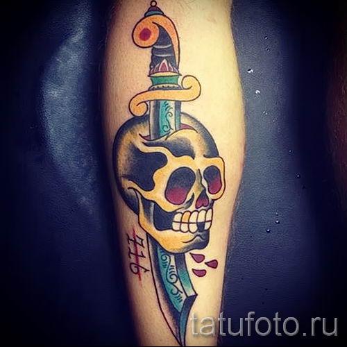 фото пример тату меч - картинка для статьи про значение татуировки 39