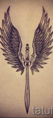 фото пример тату меч – картинка для статьи про значение татуировки 50