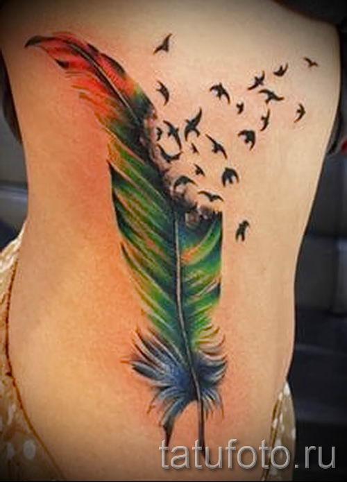 фото пример тату попугай для статьи про значение тату с попугаем - 4