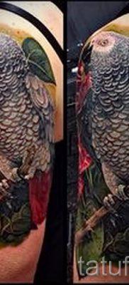 фото пример тату попугай для статьи про значение тату с попугаем – 10