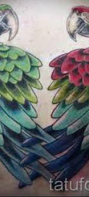 фото пример тату попугай для статьи про значение тату с попугаем – 15