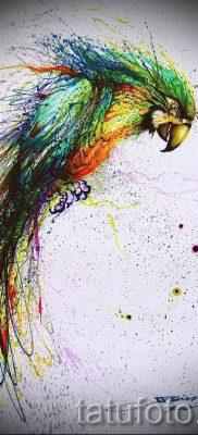 фото пример тату попугай для статьи про значение тату с попугаем – 23