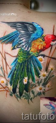 фото пример тату попугай для статьи про значение тату с попугаем – 36