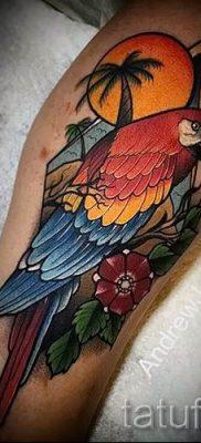 фото пример тату попугай для статьи про значение тату с попугаем – 40