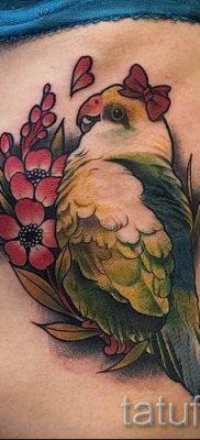 фото пример тату попугай для статьи про значение тату с попугаем – 41