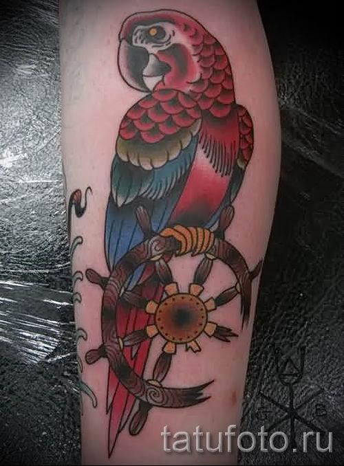 фото пример тату попугай для статьи про значение тату с попугаем - 45