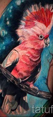 фото пример тату попугай для статьи про значение тату с попугаем – 49