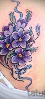 фото татуировки фиалка для статьи про значение тату фиалка – tatufoto.ru – 1
