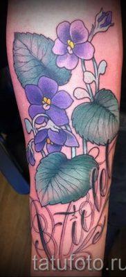 фото татуировки фиалка для статьи про значение тату фиалка – tatufoto.ru – 7