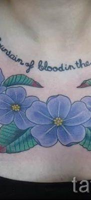 фото татуировки фиалка для статьи про значение тату фиалка – tatufoto.ru – 10