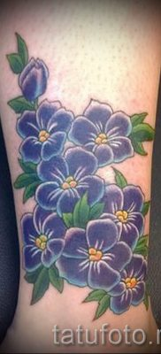 фото татуировки фиалка для статьи про значение тату фиалка – tatufoto.ru – 16