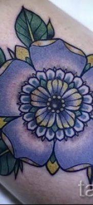 фото татуировки фиалка для статьи про значение тату фиалка – tatufoto.ru – 19