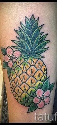 фото тату ананас для статьи про значение татуировки с ананасом – tatufoto.ru – 4