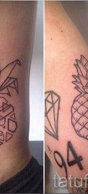 фото тату ананас для статьи про значение татуировки с ананасом – tatufoto.ru – 26