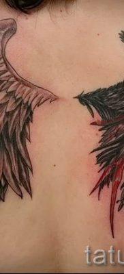 фото тату ангел и демон для статьи про значение рисунка татуировки – tatufoto.ru – 6