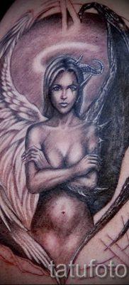 фото тату ангел и демон для статьи про значение рисунка татуировки – tatufoto.ru – 7
