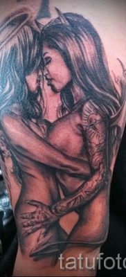 фото тату ангел и демон для статьи про значение рисунка татуировки – tatufoto.ru – 9