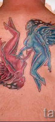 фото тату ангел и демон для статьи про значение рисунка татуировки – tatufoto.ru – 12