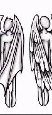 фото тату ангел и демон для статьи про значение рисунка татуировки – tatufoto.ru – 13