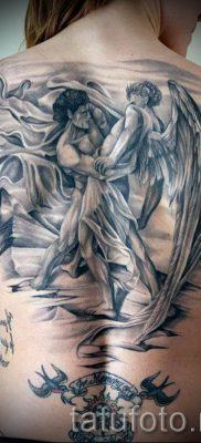 фото тату ангел и демон для статьи про значение рисунка татуировки – tatufoto.ru – 15