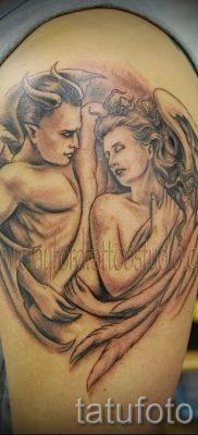 фото тату ангел и демон для статьи про значение рисунка татуировки – tatufoto.ru – 18