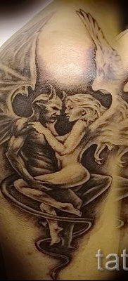 фото тату ангел и демон для статьи про значение рисунка татуировки – tatufoto.ru – 20