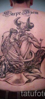 фото тату ангел и демон для статьи про значение рисунка татуировки – tatufoto.ru – 21