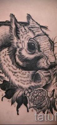 фото тату белка для статьи про значение татуировки с белкой – tatufoto.ru – 18