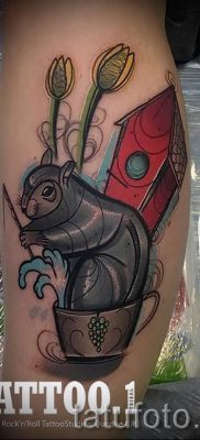 фото тату белка для статьи про значение татуировки с белкой – tatufoto.ru – 56