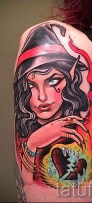 фото тату ведьма для статьи про значение татуировки ведьма – tatufoto.ru – 1