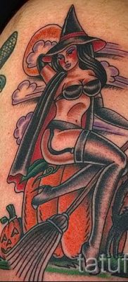 фото тату ведьма для статьи про значение татуировки ведьма – tatufoto.ru – 50