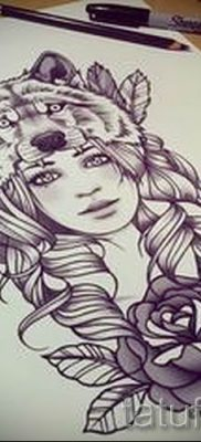фото тату волчица для статьи про значение татуировки волчица – tatufoto.ru – 1