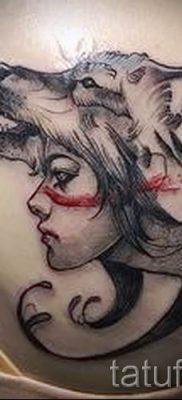 фото тату волчица для статьи про значение татуировки волчица – tatufoto.ru – 3