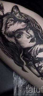 фото тату волчица для статьи про значение татуировки волчица – tatufoto.ru – 9