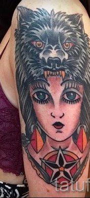 фото тату волчица для статьи про значение татуировки волчица – tatufoto.ru – 12