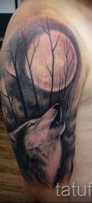 фото тату воющий волк для статьи про значение тату воющий волк – tatufoto.ru – 9