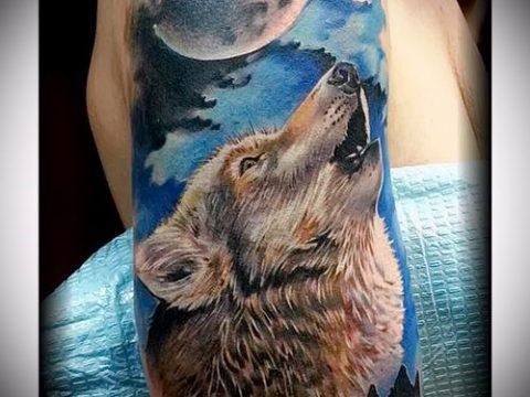 фото тату воющий волк для статьи про значение тату воющий волк - tatufoto.ru - 27