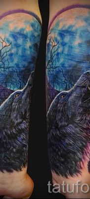 фото тату воющий волк для статьи про значение тату воющий волк – tatufoto.ru – 48