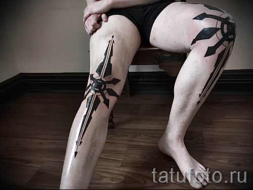фото тату звезды на коленях для статьи про значение - tatufoto.ru - 11