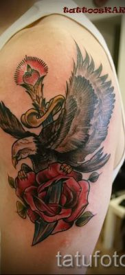 фото тату кинжал и роза пример для статьи про значение татуировки – tatufoto.ru – 9